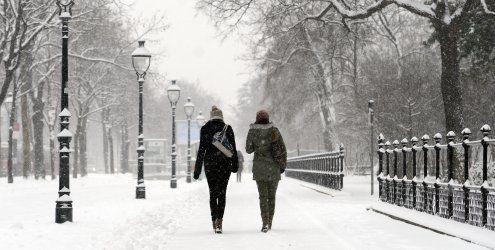 Schnee und Kälte im Anmarsch