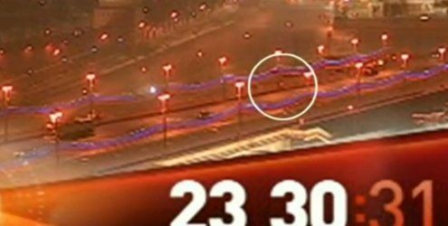 Reinigungsfahrzeug verdeckt Mord an Nemzow in Moskau