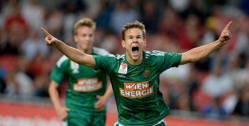 Rapid Wien nach 3:2 gegen Ajax Amsterdam im CL-Play-off