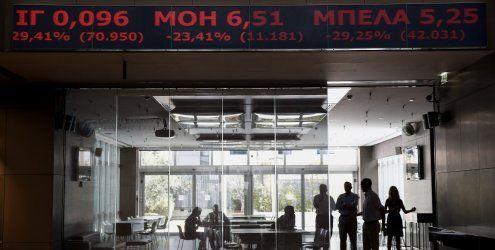 An Athener Börse herrscht Panik: Hellas befindet sich im freien Fall