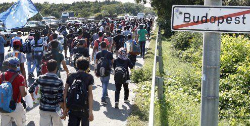 Ungarn will Flüchtlinge in Bussen nach Österreich transportieren