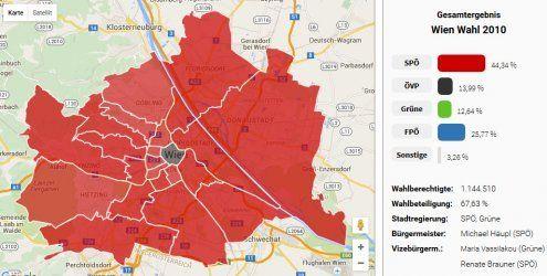 So haben die Bewohner Ihres Bezirks seit dem Jahr '96 gewählt