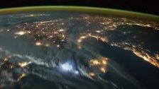 So sehen Gewitter aus 400 Kilometern Höhe aus