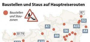 Stau in Salzburg: Ferienzeit bedeutet mehr Verkehr
