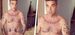 Robbie Williams nackt: Wer will ein Stück Kuchen?