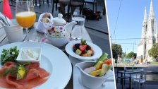 Brunch im Café Français mit Blick auf Votivkirche