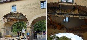 Teileinsturz: Lkw rammt Gebäude in Wien-Liesing