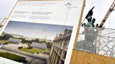 Rohbau der Büropavillons am Heldenplatz fertig
