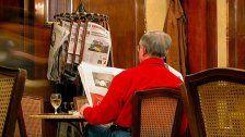 Woche des Zeitunglesens in Wiener Kaffeehäusern