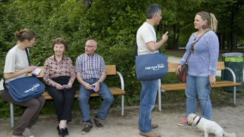 Für ein friedliches Miteinander in Wiener Parks: Fair Play-Teams