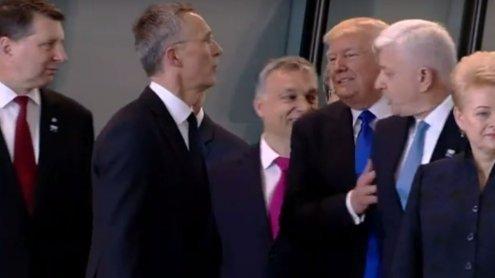 """Aus dem Weg!"": Hier schubst Donald Trump einen Staatschef"
