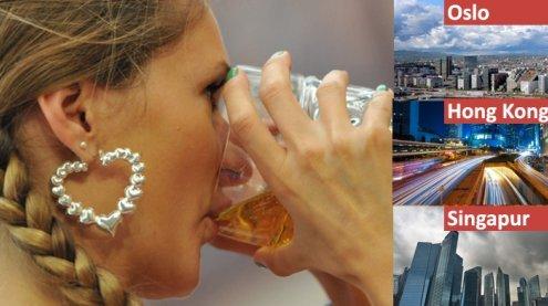 Bierpreis für ein Krügerl: Die 10 teuersten und billigsten Städte