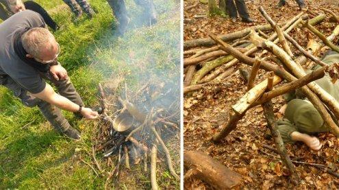 """Beim Survival-Training mit Reini Rossmann: """"Überleben"""" im Wald"""