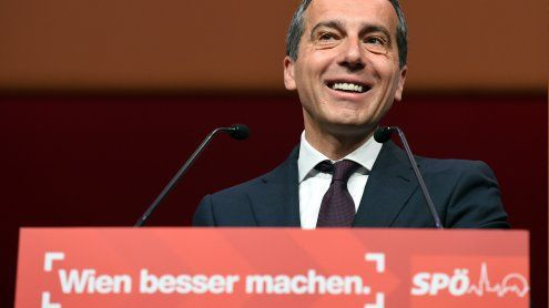 Bundeskanzler Christian Kern auch in Wien SP-Spitzenkandidat