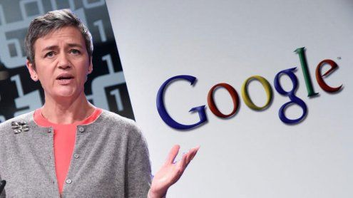 EU verhängt Rekordstrafe gegen Google: Über 2,4 Milliarden Euro