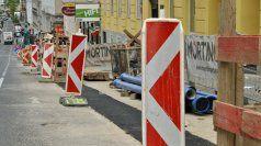Währing: Baustelle auf der Gymnasiumstraße