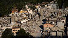 Gedenken an Erdbeben um Amatrice in Italien