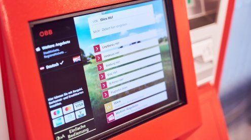 ÖBB-Ticketautomaten in Wien & NÖ mit neuer Benutzeroberfläche