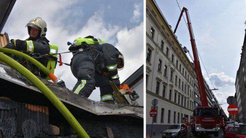 Dachbrand in Wien: Mutter und kleine Tochter mussten ins Spital