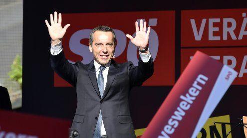 """SPÖ-Wahlkampf: Kern warnt vor """"dickem Ende"""" mit Schwarz-Blau"""