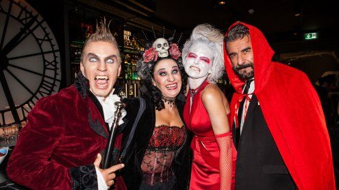 Schaurige Promi-Halloweenparty