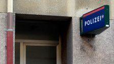 Polizeistation in Wien mit Lackstift beschmiert
