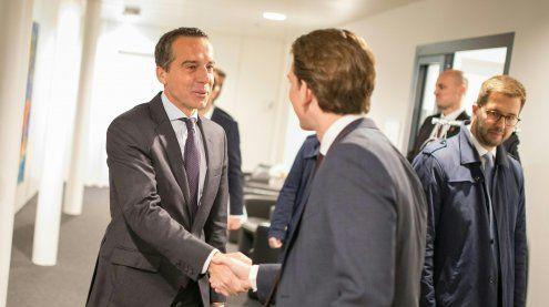 Sebastian Kurz traf Christian Kern zu einem Sondierungsgespräch