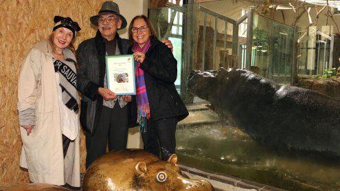 Patenschaft und neues Becken für die Flusspferde in Schönbrunn