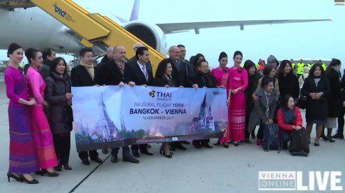 Flug der Thai Airways landete erstmals seit 30 Jahren in Wien