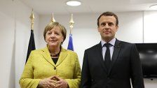Merkel trifft Präsidenten Macron in Paris