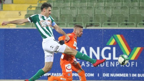 Fußball: SV Mattersburg siegte mit 2:1 über FK Austria Wien