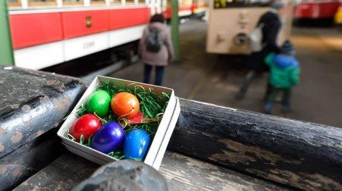 Wiener Linien: Ostereiersuche im Wiener Verkehrsmuseum Remise