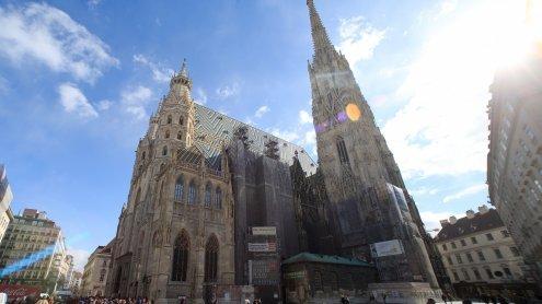 Mauerstücke am Stephansdom gelöst: Feuerwehreinsatz