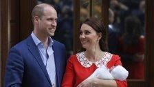 William und Kate traten mit Baby vor Kameras