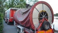 Alte Donau verdreckt: Feuerwehr rückte aus
